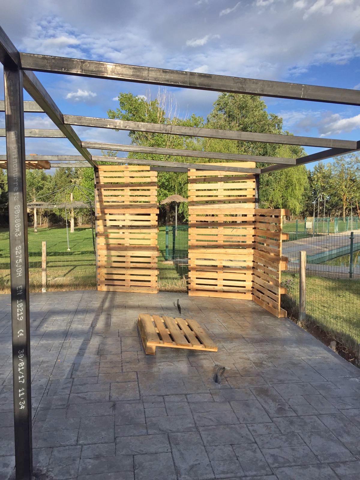 Estructura Metalica Combinada Con Madera Para Terraza Fr Inox